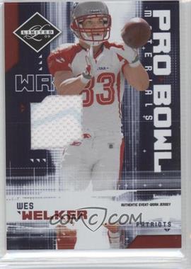 2009 Donruss Limited - Pro Bowl Materials #5 - Wes Welker /100
