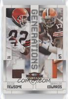 Ozzie Newsome, Braylon Edwards [Noted] #/50