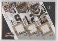 Reggie Bush, Drew Brees, Marques Colston [EXtoNM] #/250