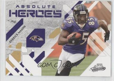 2009 Playoff Absolute Memorabilia - Absolute Heroes #11 - Derrick Mason