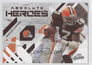 2009 Playoff Absolute Memorabilia - Absolute Heroes #6 - Braylon Edwards