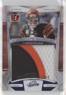 2009 Playoff Absolute Memorabilia - Absolute Patches Jumbo Prime Spectrum #7 - Carson Palmer /25
