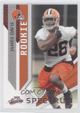 2009 Playoff Absolute Memorabilia - [Base] - Spectrum Red #148 - James Davis