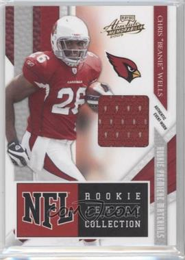 """2009 Playoff Absolute Memorabilia - NFL Rookie Jersey Collection #1 - Chris """"Beanie"""" Wells"""