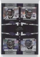 Derrick Mason, Mark Clayton, Ray Lewis, Willis McGahee [Noted] #/100