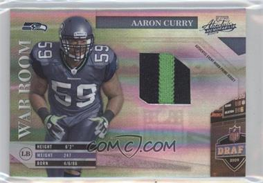 2009 Playoff Absolute Memorabilia - War Room - Materials Prime [Memorabilia] #24 - Aaron Curry /50