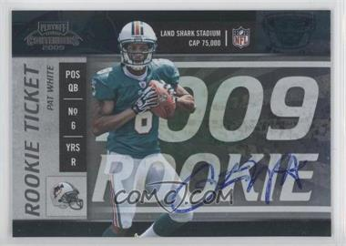 2009 Playoff Contenders - [Base] #118 - Pat White