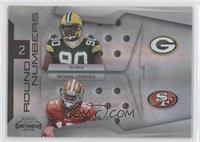Michael Crabtree, B.J. Raji #/50