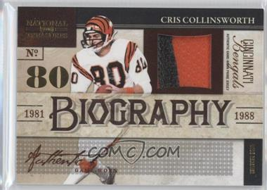 2009 Playoff National Treasures - Biography Materials - Prime #3 - Cris Collinsworth /25