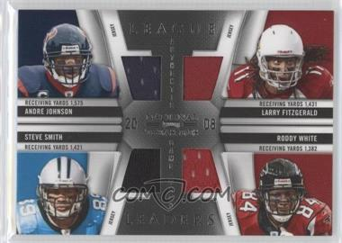 2009 Playoff National Treasures - League Leaders - Quads Materials [Memorabilia] #10 - Andre Johnson, Larry Fitzgerald, Roddy White, Steve Smith /99