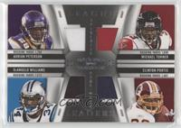 Clinton Portis, DeAngelo Williams, Michael Turner, Adrian Peterson #/99