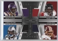 Clinton Portis, DeAngelo Williams, Michael Turner, Adrian Peterson /99