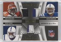 Chad Ocho Cinco, Marvin Harrison, Reggie Wayne #/25