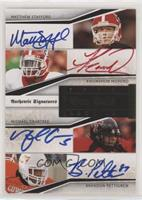 Matthew Stafford, Brandon Pettigrew, Knowshon Moreno, Michael Crabtree