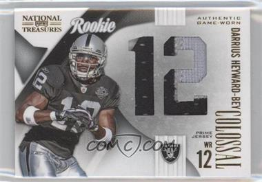 2009 Playoff National Treasures - Rookie Colossal Materials - Jersey Number Prime #19 - Darrius Heyward-Bey /25
