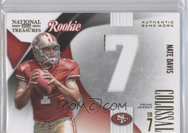 2009 Playoff National Treasures - Rookie Colossal Materials - Jersey Number Prime #31 - Nate Davis /25