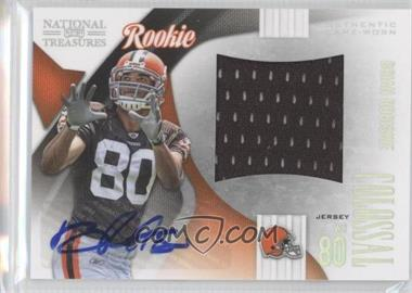 2009 Playoff National Treasures - Rookie Colossal Materials - Signatures [Autographed] #17 - Brian Robiskie /11