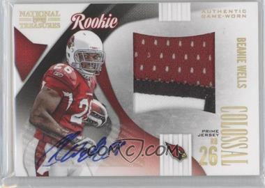 2009 Playoff National Treasures - Rookie Colossal Materials - Signatures Prime [Autographed] #18 - Beanie Wells /10