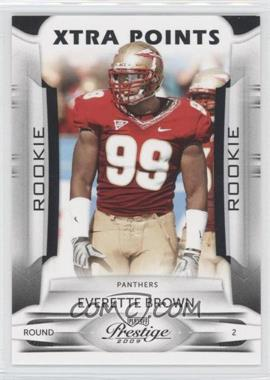 2009 Playoff Prestige - [Base] - Xtra Points Black #137 - Everette Brown /10