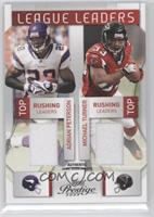 Andre Johnson, Larry Fitzgerald, Adrian Peterson, Michael Turner #/150