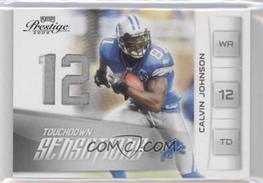 2009 Playoff Prestige - Touchdown Sensations - Materials Prime [Memorabilia] #15 - Calvin Johnson /50