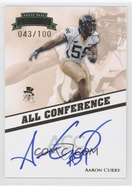 2009 Press Pass Legends - All Conference Autographs #AC-AC2 - Aaron Curry /100