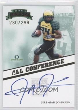 2009 Press Pass Legends - All Conference Autographs #AC-JJ - Jeremiah Johnson /299