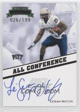 2009 Press Pass Legends - All Conference Autographs #AC-LM - LeSean McCoy /199