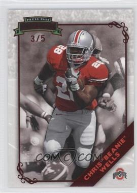 2009 Press Pass Legends - [Base] - Red #34 - Chris Wells /5