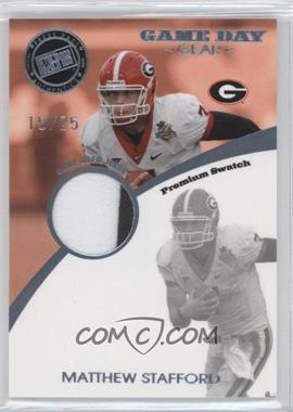 2009 Press Pass Signature Edition - Game Day Gear - Holofoil Platinum Premium Swatch #GDG-2 - Matthew Stafford /25