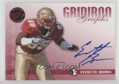 2009 Press Pass Signature Edition - Gridiron Graphs - Red #GG-EB - Everette Brown /150