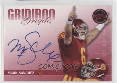 2009 Press Pass Signature Edition - Gridiron Graphs - Red #GG-MS2 - Mark Sanchez /120