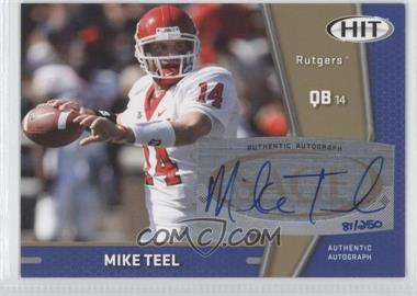 2009 SAGE Hit - Autographs - Gold #A16 - Mike Teel /250