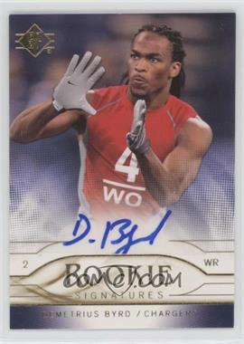 2009 SP - Rookie Signatures #RS-DB - Demetrius Byrd