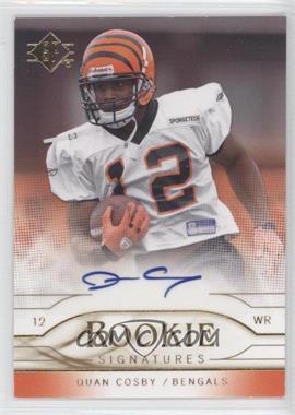 2009 SP - Rookie Signatures #RS-QC - Quan Cosby