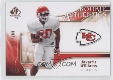 2009 SP Authentic - [Base] - Rookie Authentics Copper #259 - Javarris Williams /150