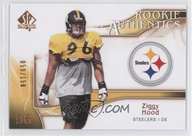 2009 SP Authentic - [Base] - Rookie Authentics Copper #283 - Ziggy Hood /150