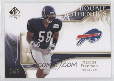 2009 SP Authentic - [Base] - Rookie Authentics Gold #220 - Marcus Freeman /50