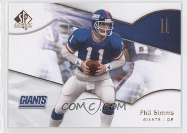 2009 SP Authentic - [Base] #125 - Phil Simms