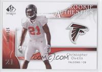 Rookie Authentics - Christopher Owens /999