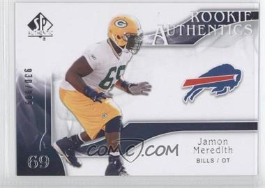 2009 SP Authentic - [Base] #242 - Rookie Authentics - Jamon Meredith /999
