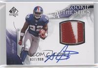 Rookie Authentics Auto Patch - Andre Brown #/999