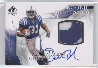 2009 SP Authentic - [Base] #378 - Rookie Authentics Auto Patch - Donald Brown /499
