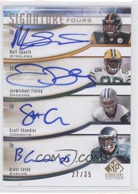 2009 SP Signature Edition - Signature Fours #F-CSCF - Scott Chandler, Brent Celek /35