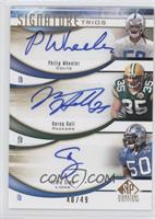 Philip Wheeler, Ernie Sims, Korey Hall /49