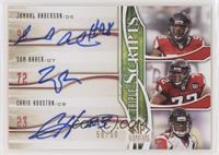 Jamaal Anderson, Sam Baker, Chris Houston #/50