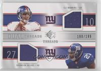 Eli Manning, Brandon Jacobs [Noted] #/199