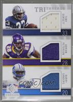 Adrian Peterson, Barry Sanders, Tony Dorsett /99