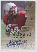 Rookie Signatures - Brandon Gibson #/299