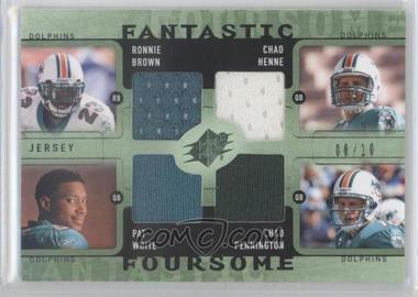 2009 SPx - Winning Combos Fantastic Foursomes - Green #W4-FISH - Pat White, Ronnie Brown, Chad Henne, Chad Pennington /10